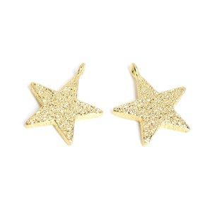 【2個入り】THE STAR凹凸ある星モチーフゴールドチャーム NF