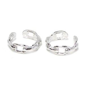 【1点】Bold Knot Chainシルバーフリーサイズリング、指輪 NF