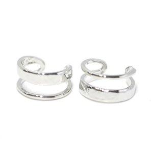 【1点】大きさ違いのBandデザインのシルバーリング、指輪 NF