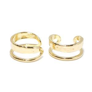 【1点】大きさ違いのBandデザインのゴールドリング、指輪 NF