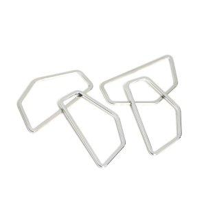 【1個】シンプルな五角形のシルバーチャーム、コネクター NF