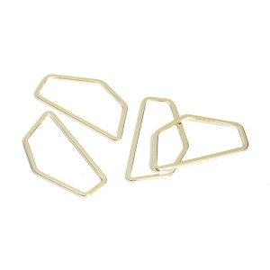 【1個】シンプルな五角形のゴールドチャーム、コネクター NF