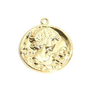 【1個】ビーナスVenusコイン光沢ゴールドチャーム NF