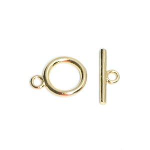 【1セット】約8.5mm円形&約11mmスティックのゴールドマンテルセット、留め金具 NF