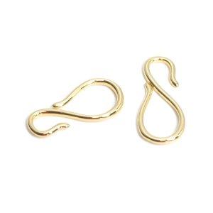 【1個入り】インフィニティースタイルのゴールド連結パーツ、留め金具 NF
