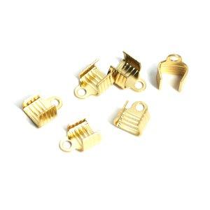 内径約5mm×8mmゴールド真鍮製カシメ、留め金具 NF
