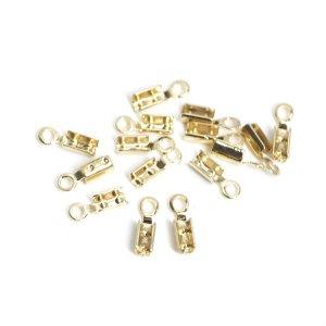 内径約2mm×8mmゴールド真鍮製カシメ、留め金具 NF