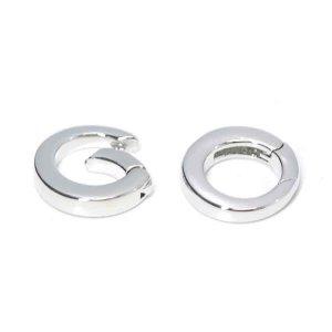 【1個】シンプル円形のシルバー連結パーツ、留め金具 NF