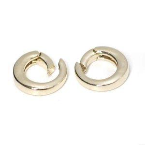 【1個】シンプル円形のゴールド連結パーツ、留め金具 NF