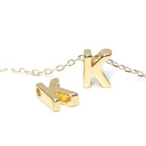 【1個入り】イニシャル【 K 】ゴールドチャーム NF