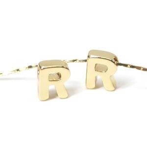 【1個入り】イニシャル【 R 】ゴールドチャーム NF