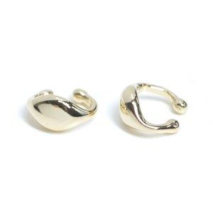 【1個】ふっくらとした円形の光沢ゴールドイヤーカフ、軟骨ピアス NF