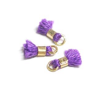 【6個入り】刺繍糸tasselオチャードパープルカラーミニタッセル|ハンドメイド材料|アクセサリーパーツ