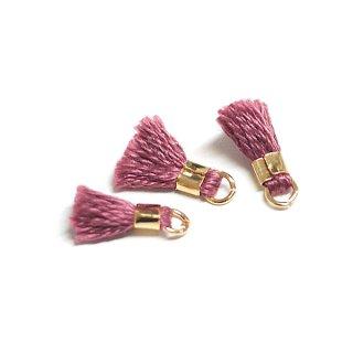 【6個入り】刺繍糸tasselチョコブラウンカラーミニタッセル|ハンドメイド材料|アクセサリーパーツ