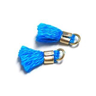 【6個入り】刺繍糸tasselクラシックブルーカラーミニタッセル