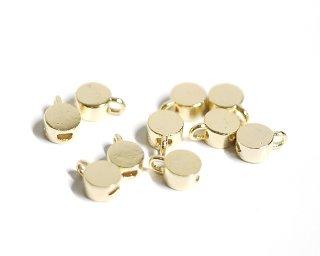 【4個入り】約3mm円形光沢ゴールド留め金具、ストッパー NF