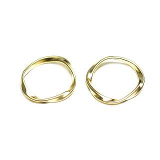 【2個入り】メビウスの輪〜マットゴールドチャーム、パーツ