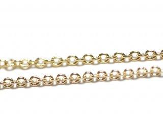 留め具含め約39.5cm(厚み約1mm)16Kゴールドプレートネックレスチェーン