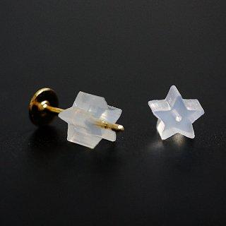 【70個】35ペア分!星(スター)型 樹脂ピアスキャッチ