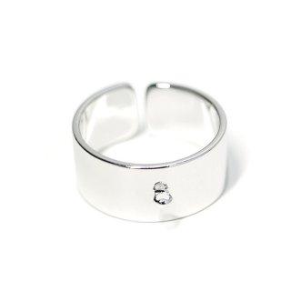 【1個】カン付き約8mm光沢シルバーフリーサイズ指輪、リング製作パーツ NF