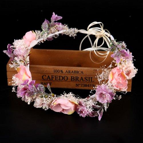 造花 花冠 ウェディング ヘッドドレス 花輪 結婚式