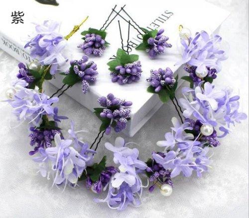 フラワーアクセサリー 花冠 造花ヘアピン セット