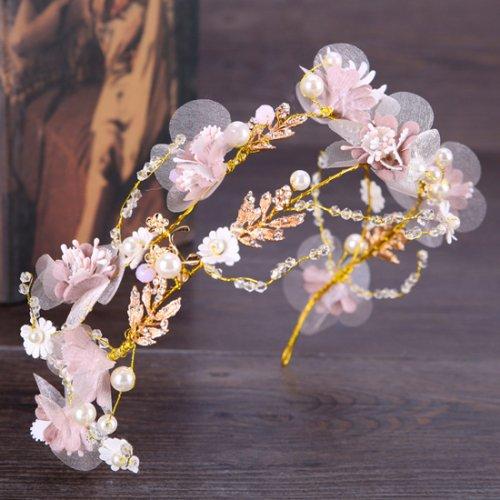 ウェディング ヘッドドレス 花嫁 髪飾り パール