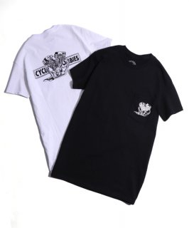CycleZombies / サイクルゾンビーズ BIGTWIN Pocket S/S T-SHIRT