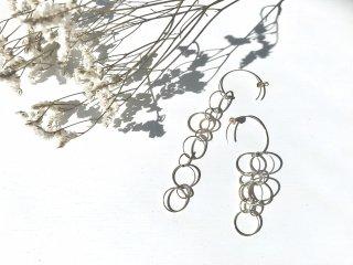 silver925 RoundChainピアス 01-61
