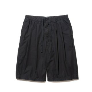 COOTIE(クーティー)/ CTE-21S102 Garment Dyed 2 Tuck Easy Shorts【BLACK】