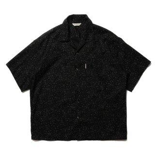 COOTIE(クーティー)/ CTE-21S410 Splatter Open-Neck S/S Shirt【BLACK】