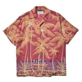 <img class='new_mark_img1' src='https://img.shop-pro.jp/img/new/icons7.gif' style='border:none;display:inline;margin:0px;padding:0px;width:auto;' />MINEDENIM(マインデニム) / WACKO MARIA × MINEDENIM Palm tree Hawaiian Shirt【RPT】