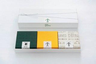 お茶とお菓子の詰合わせ(シングル茶葉3種と玉露、ささめ)