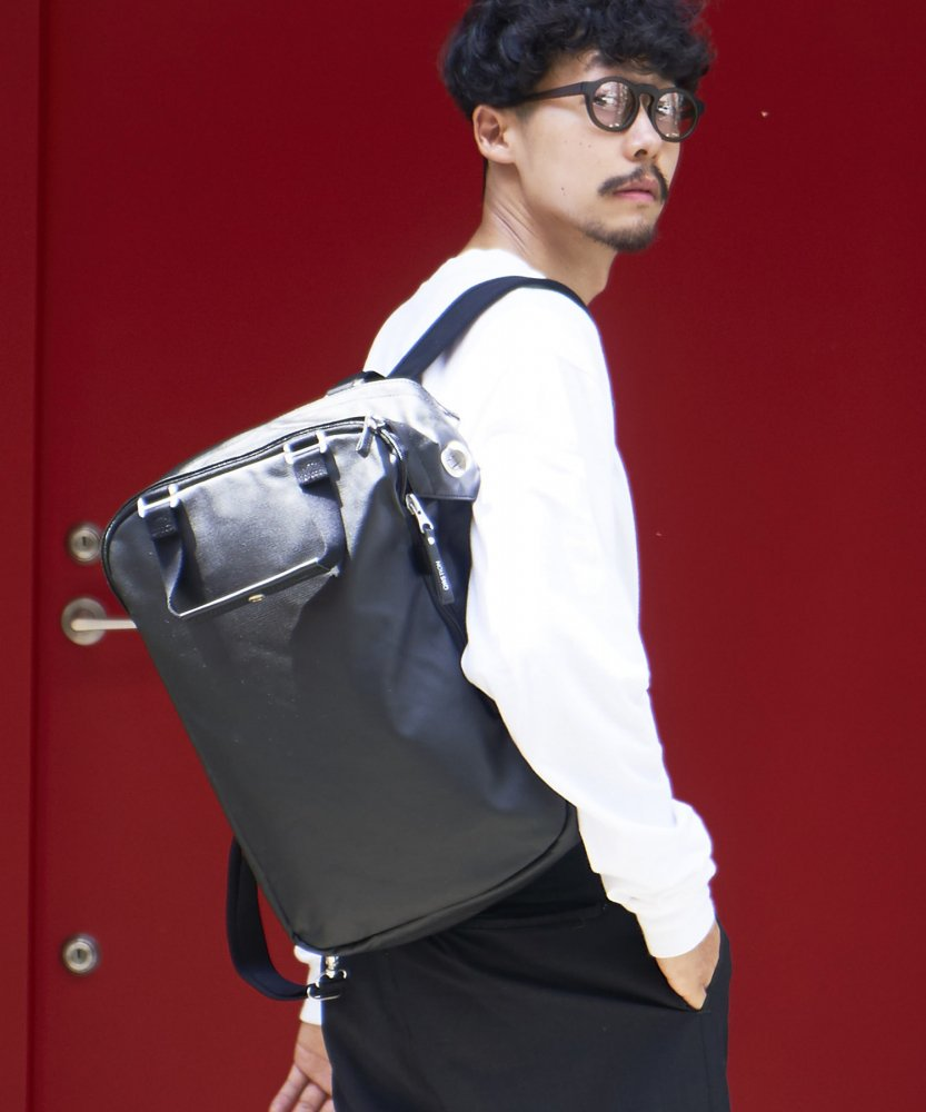 【QWSTION】Daypack Organic Jet Black