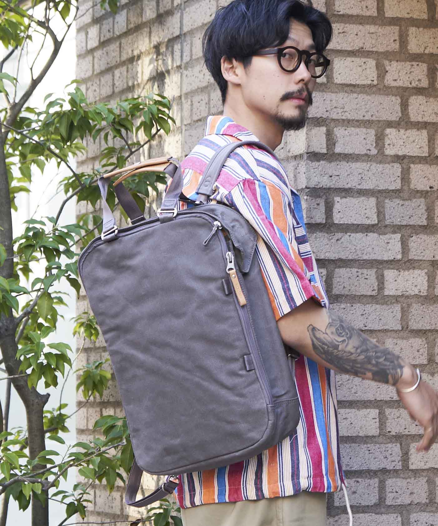 【QWSTION】Daypack Organic GRY