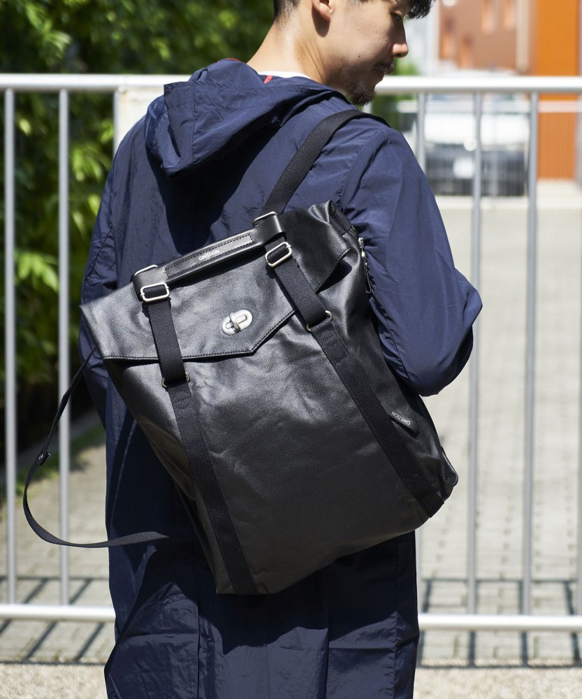 【QWSTION】Tote Organic Jet BLK