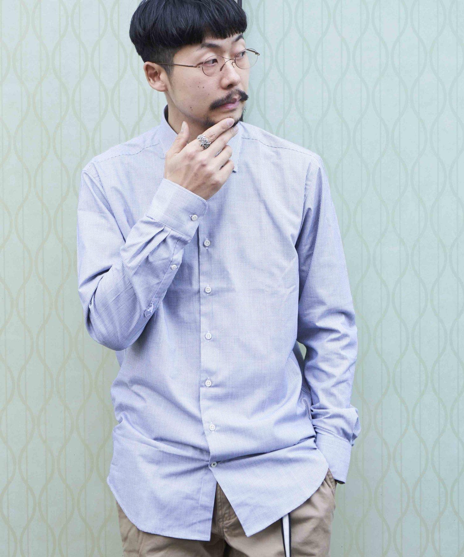 <30%OFF!!>【CARPASUS】ビオリオーガニックコットンシャツ BLK/CHK