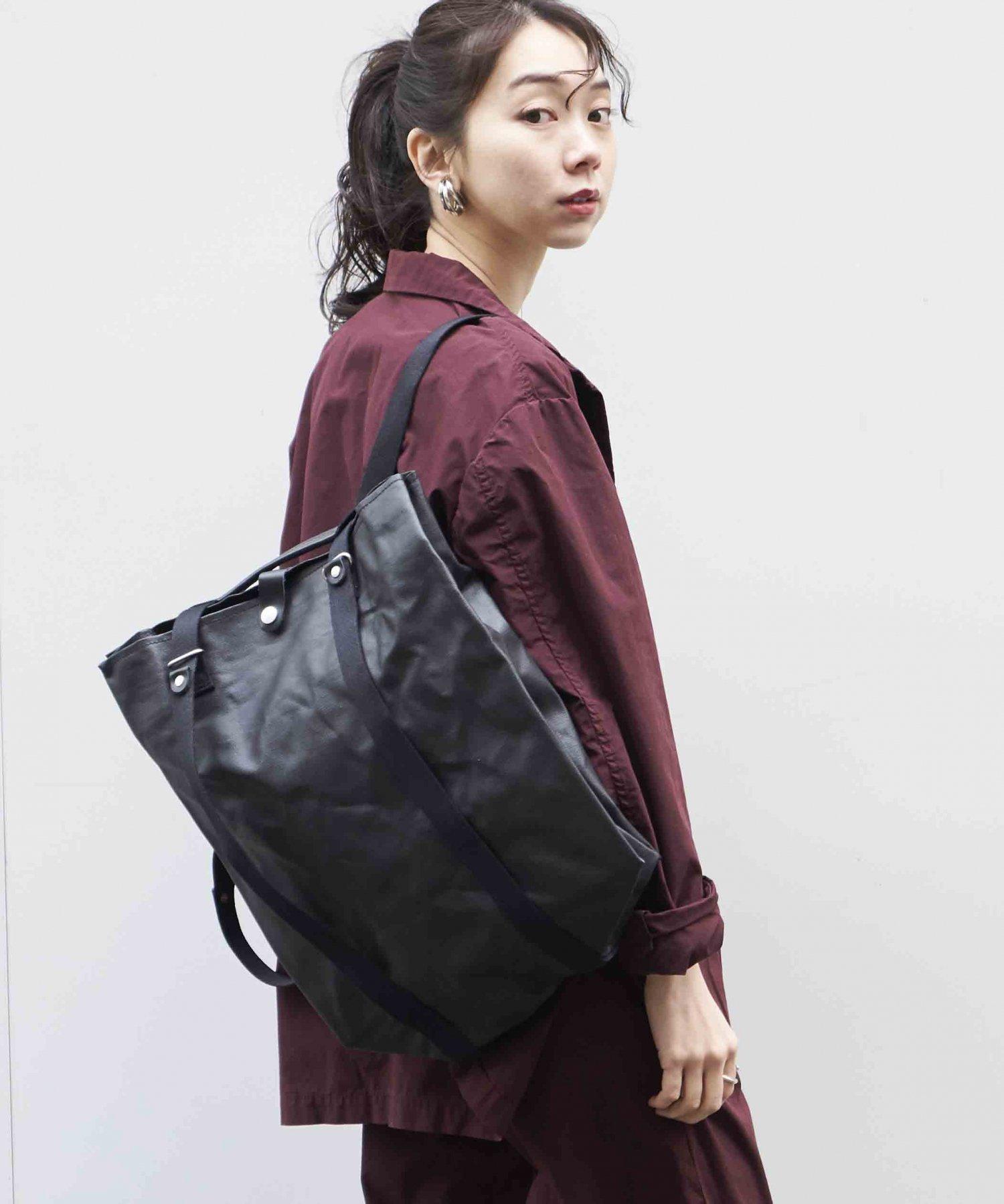 【QWSTION】Shopper Organic Jet BLK