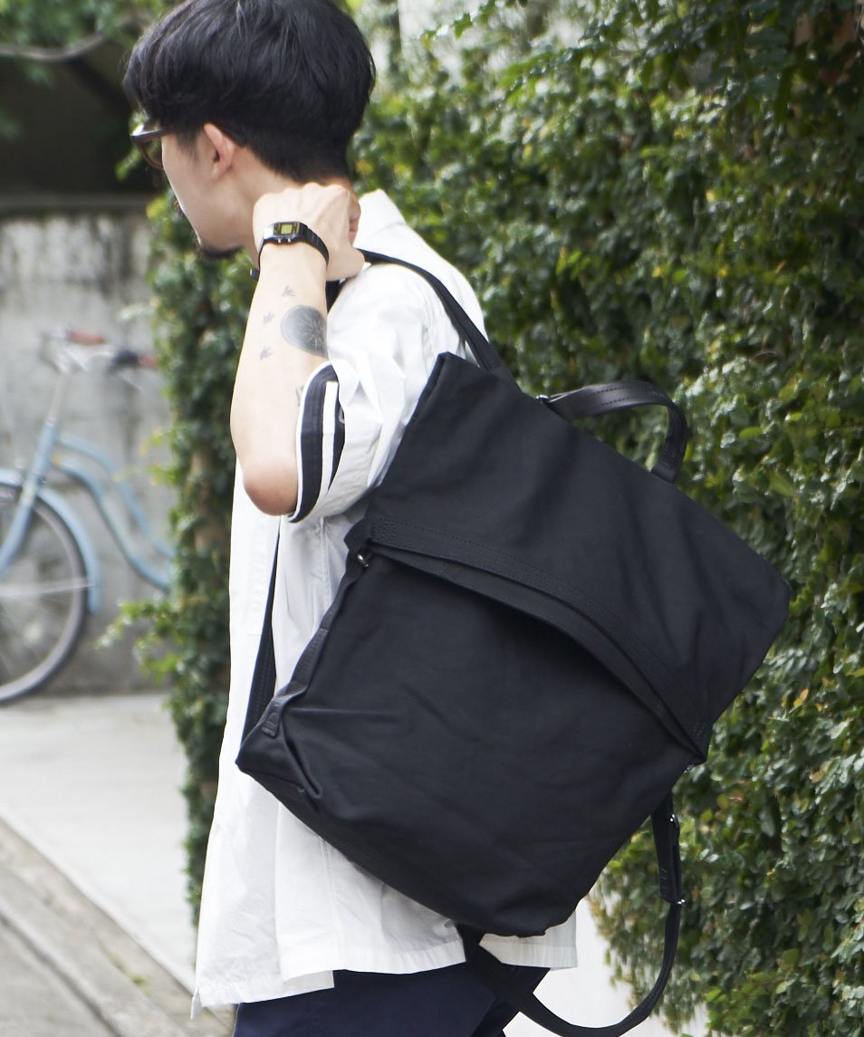 【QWSTION】ROLLPACK / BANANATEX® BLK