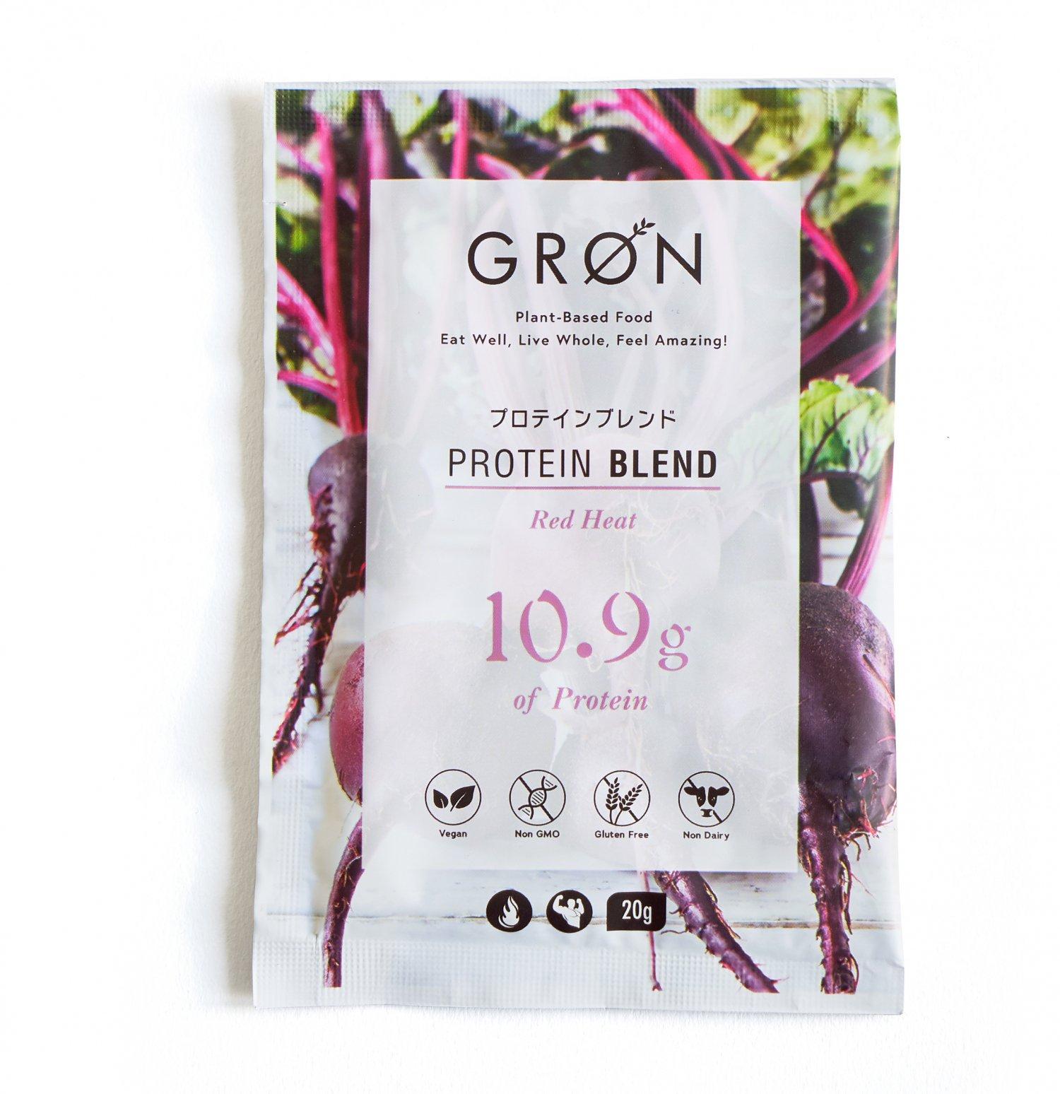 【GRON】プロテイン レッドヒート 20g 個包装