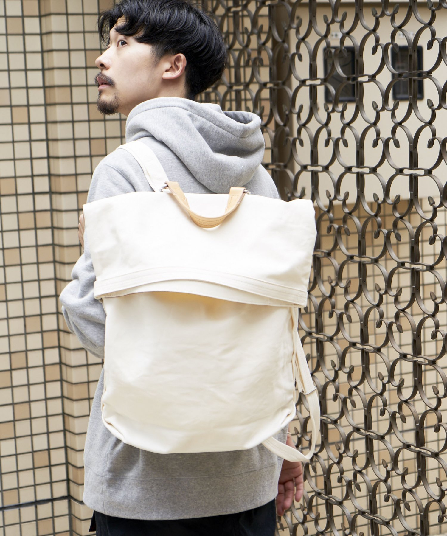 【QWSTION】ROLLPACK / BANANATEX® WHT