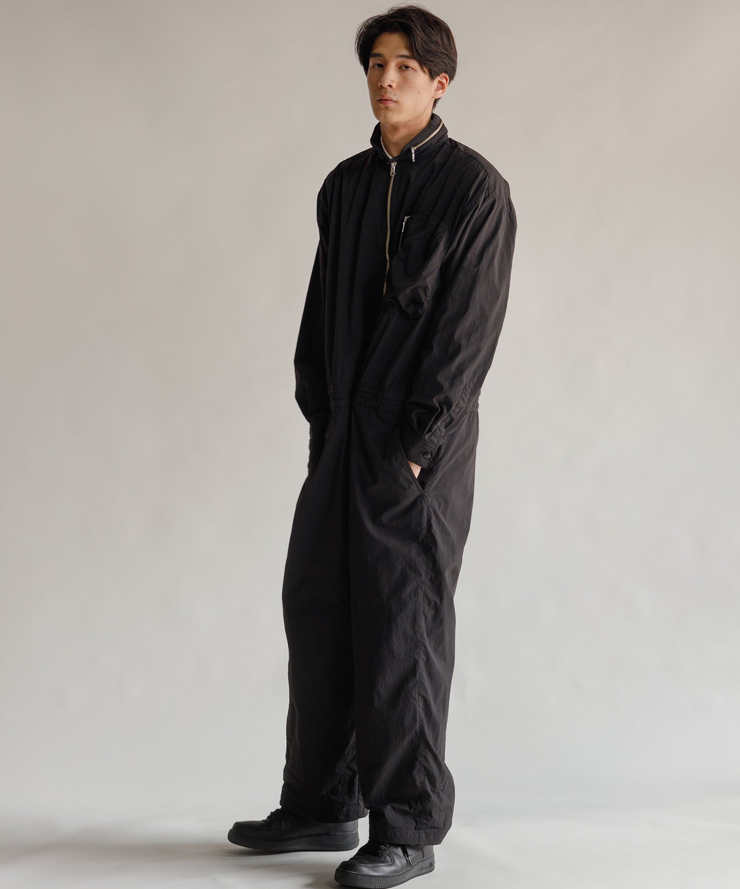 <img class='new_mark_img1' src='https://img.shop-pro.jp/img/new/icons32.gif' style='border:none;display:inline;margin:0px;padding:0px;width:auto;' />【REBIRTH PROJECT】GNB jumpsuit BLK