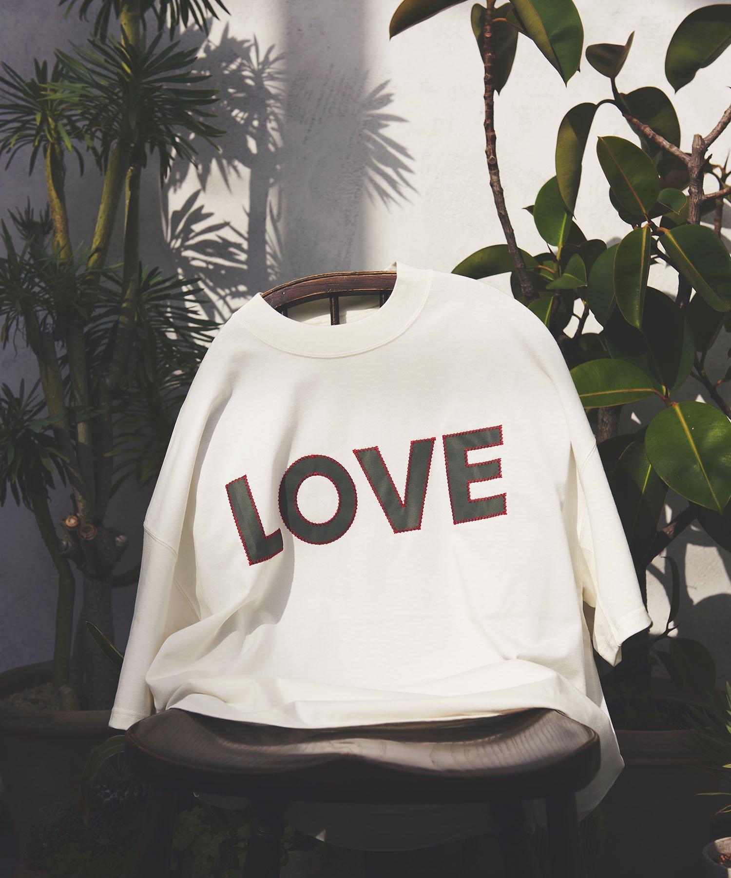 【KATHARINE HAMNETT】LOVE オーガニックコットン オーバーサイズTシャツ WHT