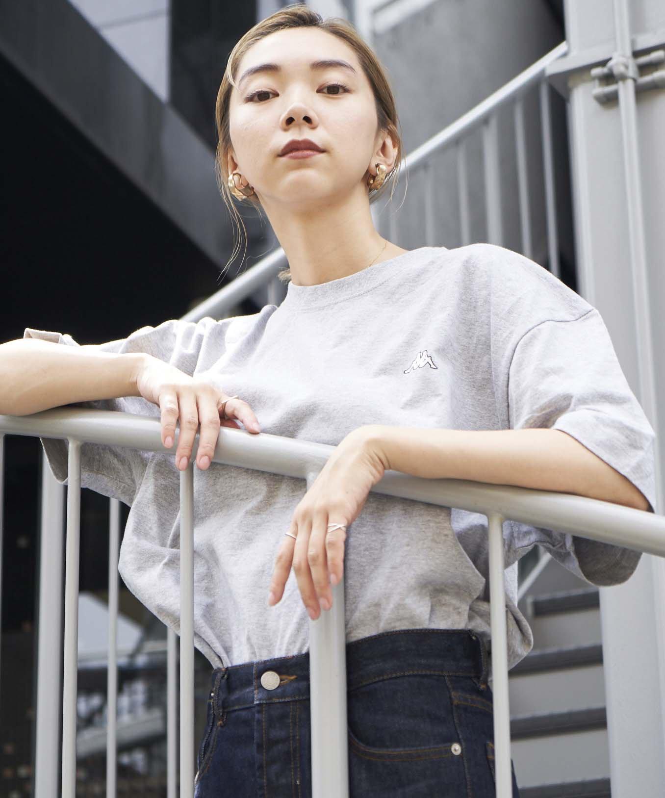 <ZERO WASTE>【REBIRTH PROJECT】Kappa別注 W4B プリントTシャツ GRY