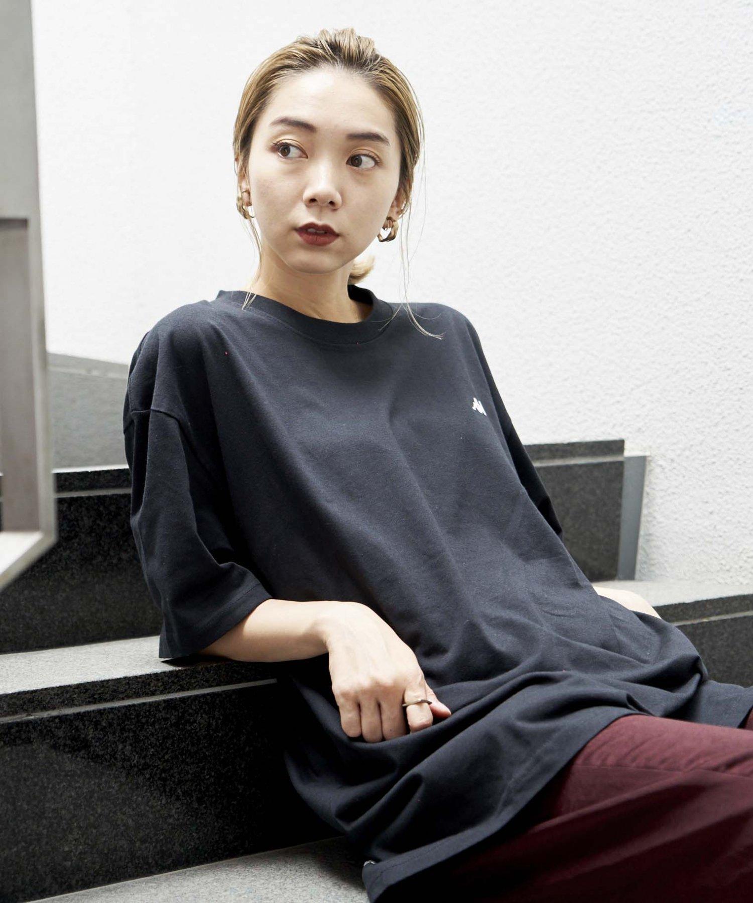 <ZERO WASTE>【REBIRTH PROJECT】Kappa別注 W4B プリントTシャツ BLK