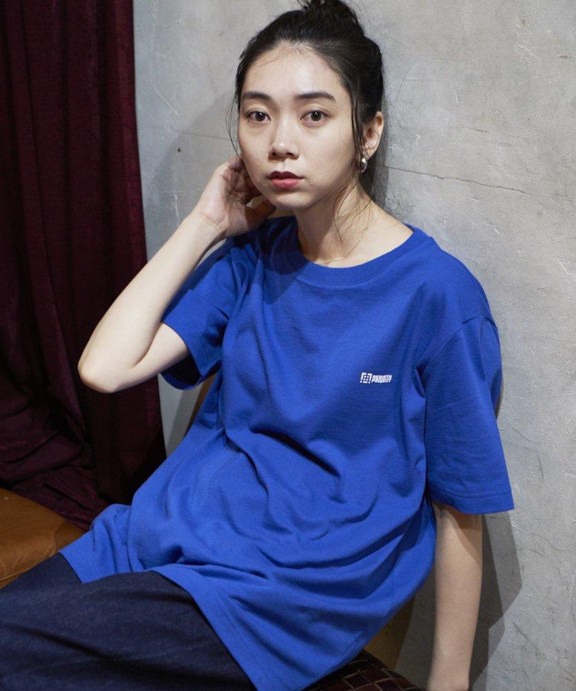 <ZERO WASTE>【REBIRTH PROJECT】RECOVER ロゴTシャツ BLU