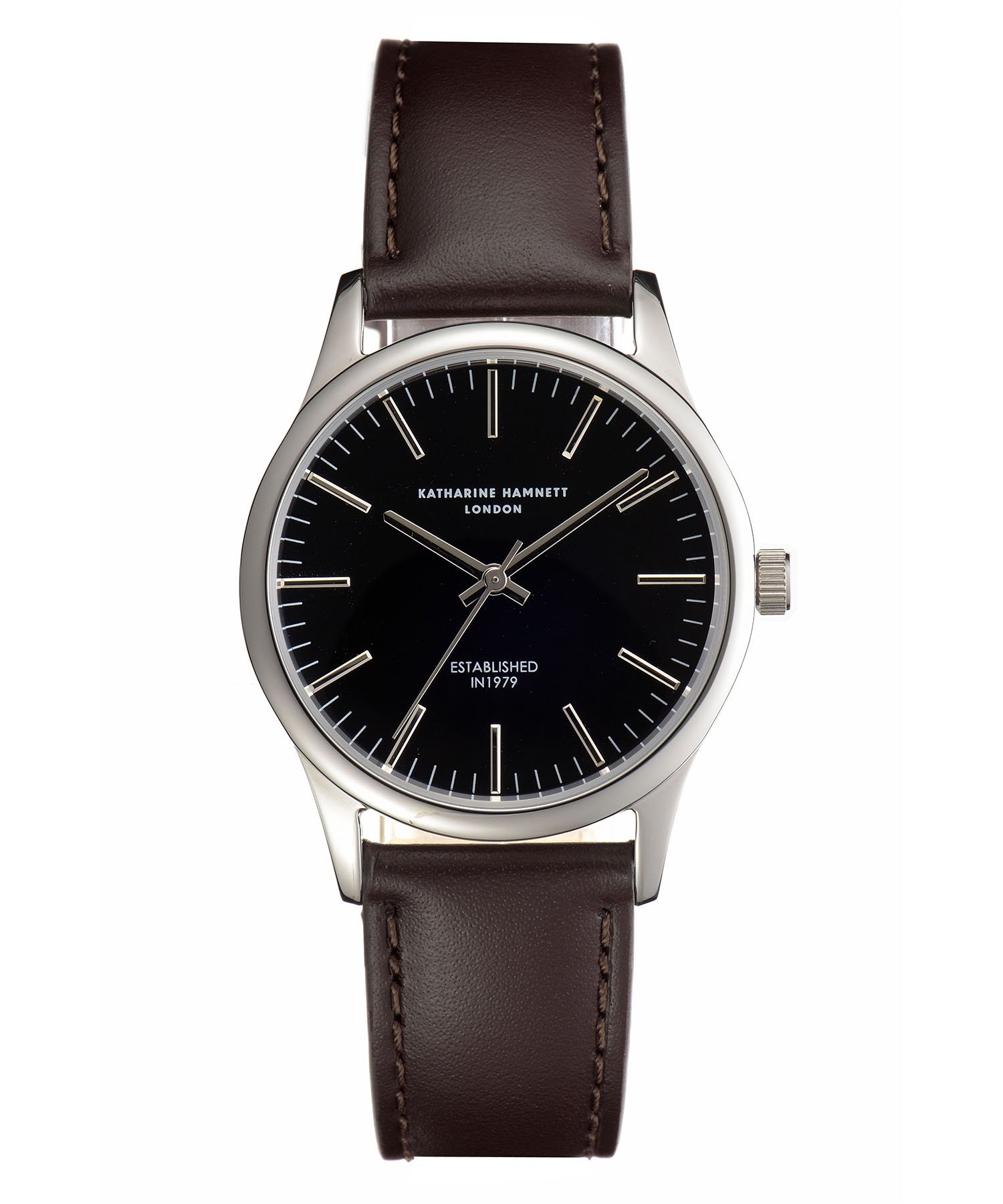 <img class='new_mark_img1' src='https://img.shop-pro.jp/img/new/icons15.gif' style='border:none;display:inline;margin:0px;padding:0px;width:auto;' />【KATHARINE HAMNETT LONDON】Black-dial Watch