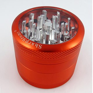 Sharpstone Grinder Clear Top 4pc Red Size 62mm-1006