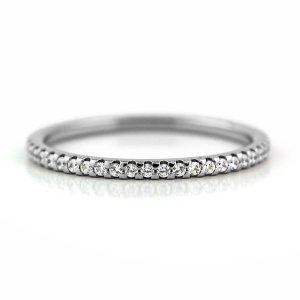 チタンフルエタニティリング 1.3mm幅 天然ダイヤモンド