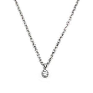 チタンネックレス 天然ダイヤモンド約0.03ct